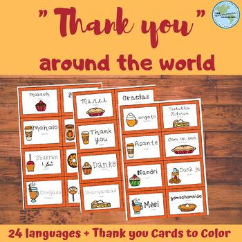Thank You Cards in 24 Languages for Thanksgiving
