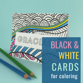 Thank You Cards in Spanish (in Color & Black and White)