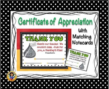 Thank You Certificate 2 with Matching Notecards