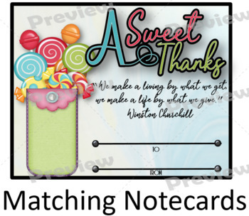 Thank You Certificate 9 with Matching Notecards