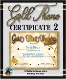 Thank You Certificate {Gold Theme} 2