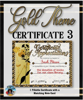 Thank You Certificate {Gold Theme} 3