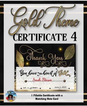 Thank You Certificate {Gold Theme} 4