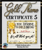 Thank You Certificate {Gold Theme} 5