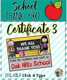 Thank You Certificates School 3 {Fillable}