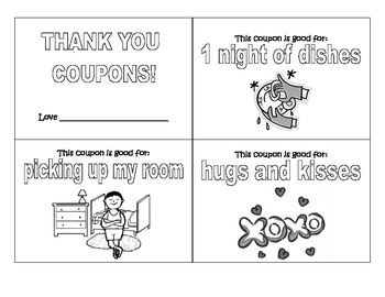 Thank You Coupons for Parents