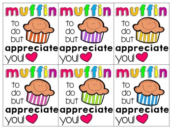 Thank You Editable Muffin Tags