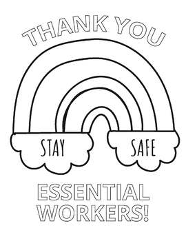 Thank You Essential Workers Coloring Sheet By Ms Martinez The Art Teacher