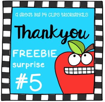 Thank You FREE SURPRISE #5 (P4 Clips Trioriginals Clip Art)