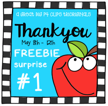 Thank You FREEBIE SURPRISE #1 (P4 Clips Trioriginals Clip Art)