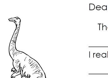 Thank You Fill In - Dinosaur