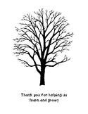 Thank You Fingerprint Tree Template