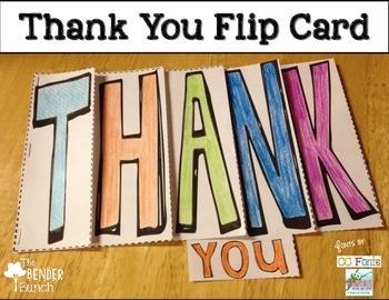 Thank You Flip Card