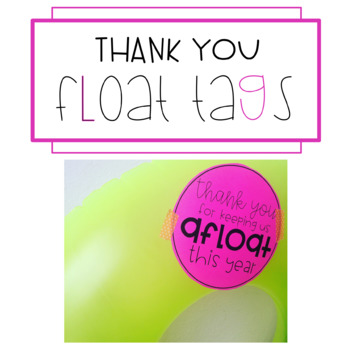 Thank You Float Tags