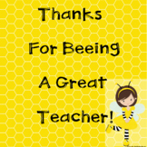 "Thank You For ""Beeing"" A Great Teacher Class Book in Google Slides™"