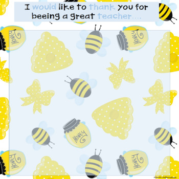 """Thank You For """"Beeing"""" A Great Teacher Class Book in Google Slides™"""