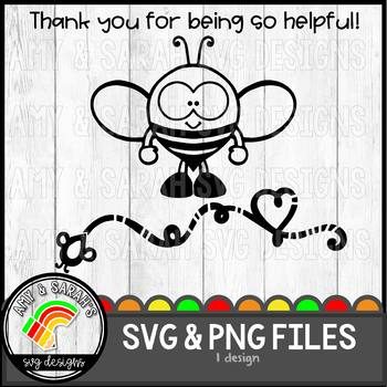 Thank You For Being So Helpful Bee SVG Design