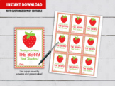 Thank You For Being The Berry Best Teacher, Strawberry Jam Card Ideas