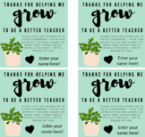Thank You For Helping Me Grow - Pre-Service Teacher Student Gifts