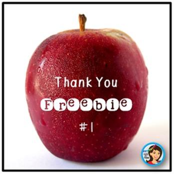 Thank You Freebie #1