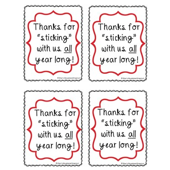 Thank You Gift Tags for Volunteers