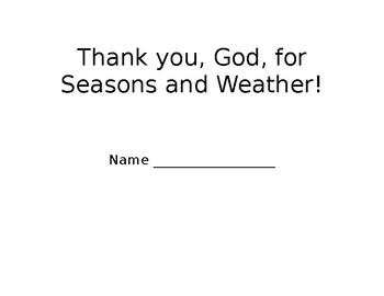 Thank You, God, for seasons and weather! coloring book