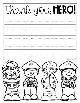 Thank You, Hero! Police & Fire {FREEBIE}