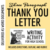 Thank You Letter (Gratitude Letter) Writing Prompt + Common Core Aligned Rubric
