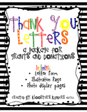 Thank You Letter Package -  Letter Form, Illustration Page, Photo Display