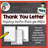Thank You Letter Template for School Staff