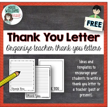 Thank you letter template for school staff by addie williams tpt thank you letter template for school staff spiritdancerdesigns Image collections