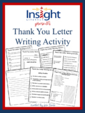 Thank You Letter Writing Lesson Thanksgiving Activity