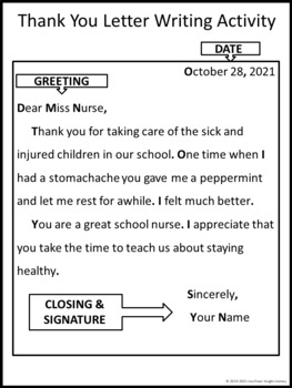 Thank You Letter Writing Lesson Thanksgiving Activity By