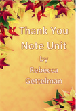 Thank You Letter Writing Mini Unit including PowerPoint an
