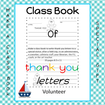 Friendly Letters  Make a Class Book for a Special Gift