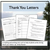 Thank You Letters Reading and Writing Mini-Unit