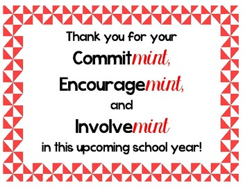 Influential image in thank you for your commit mint free printable