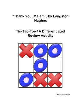 Short Story-   Thank You Ma'am Tic-Tac-Toe