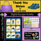 Thank You Ma'am by Langston Hughes Digital Escape/Breakout