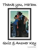 Thank You Ma'am by Langston Hughes -Quiz & Answer Key (UPDATED)