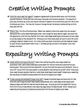 Thank You Ma'am by Langston Hughes -Writing Prompts