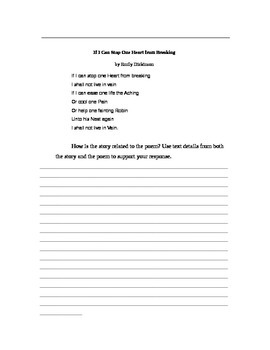 Thank You Ma'am Langston Hughes Quiz Questions Writing Assignment Worksheets