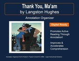 """THANK YOU, MA'AM"" by Langston Hughes: Annotation Organizer"