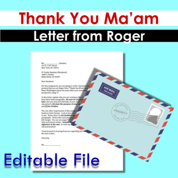 thank you ma am letter from roger