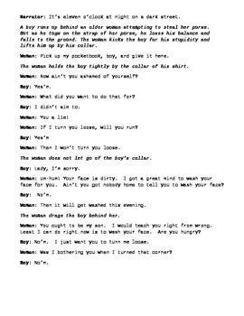 "Langston Hughes - ""Thank You M'am"" Script"