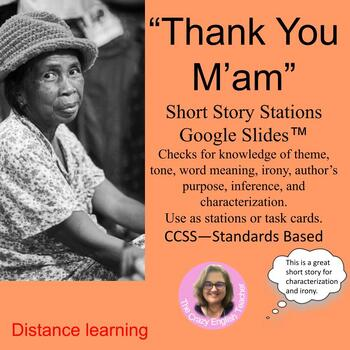 """""""Thank You M'am"""" by Langston Hughes: A Short Story Unit"""