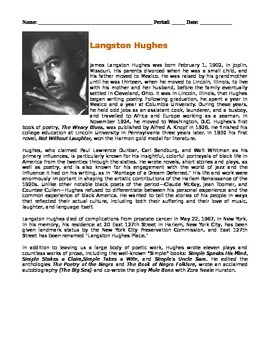 """""""Thank You, M'am"""" by Langston Hughes - Unit Activities"""