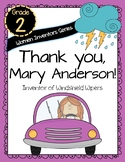 Thank You, Mary Anderson! Women Inventors Series