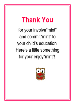 Thank You Mint Note to Parents