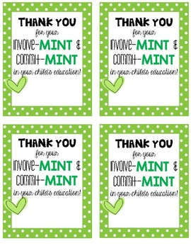 image about Thank You for Your Commit Mint Printable titled Thank Your self Mints Worksheets Training Components TpT